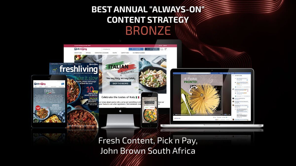 John Brown Media Best Annual Always On Content Strategy Award